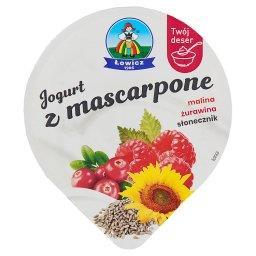 Jogurt z mascarpone malina żurawina słonecznik