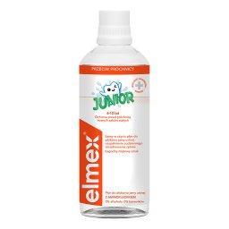 Elmex Junior Płyn do płukania jamy ustnej z aminofluorkiem bez alkoholu dla dzieci 6-12 lat