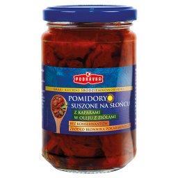 Pomidory suszone na słońcu z kaparami w oleju z zioł...
