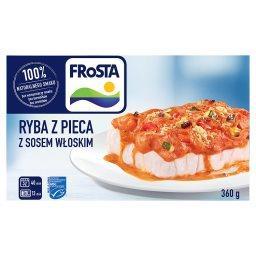 Ryba z pieca z sosem włoskim
