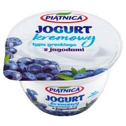Jogurt kremowy typu greckiego z jagodami