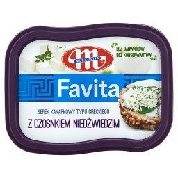 Favita Serek kanapkowy typu greckiego z czosnkiem ni...