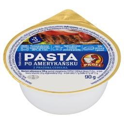 Pasta po amerykańsku z prażoną cebulką