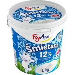 Śmietana 12% Termizowana 1kg