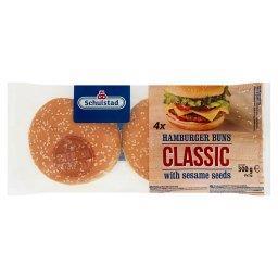 Bułki pszenne do hamburgerów klasycznych 300 g (4 x 75 g)