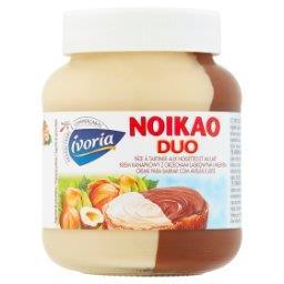 Noikao Duo Krem kanapkowy z orzechami laskowymi i ml...