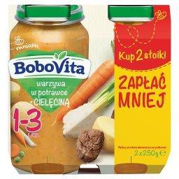 Warzywa w potrawce z cielęciną 1-3 lata 2 x