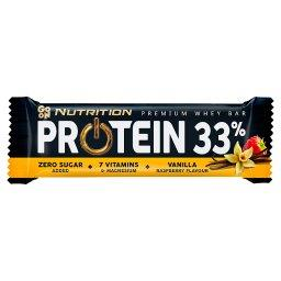 Go On Protein 33% Baton o smaku waniliwo-malinowym