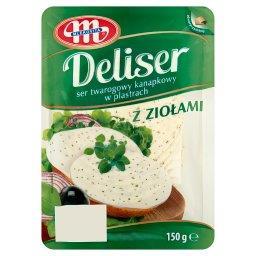 Deliser Ser twarogowy kanapkowy w plastrach z ziołam...