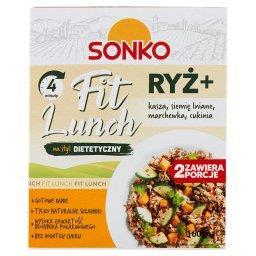 Fit Lunch Ryż + kasza siemię lniane marchewka cukini...