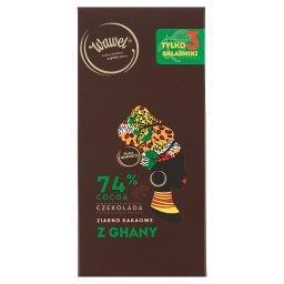 Czekolada 74% cocoa ziarno kakaowe z Ghany
