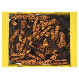 Ciastka kruche szyszki dekorowane polewą kakaową