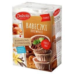 Babeczki Brownie karmelowe z czekoladą