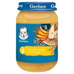 Gruszki mango i trzy zboża dla niemowląt po 8. miesi...