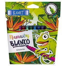 Kamet Pisaki zmywalne flamastry BIANCO 12 kolorów