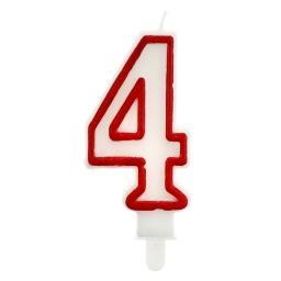 """Świeczka urodzinowa """"4"""""""