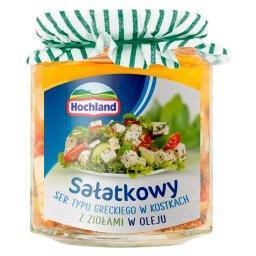Sałatkowy ser typu greckiego w kostkach z ziołami w ...