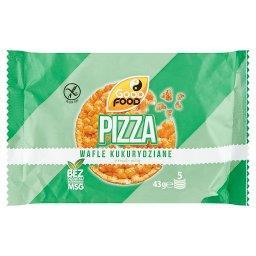 Wafle kukurydziane o smaku pizzy 43 g (5 sztuk)