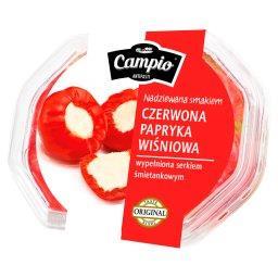 Antipasti Czerwona papryka wiśniowa wypełniona serkiem śmietankowym