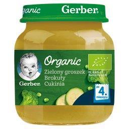 Zielony groszek brokuły cukinia dla niemowląt po 4. ...