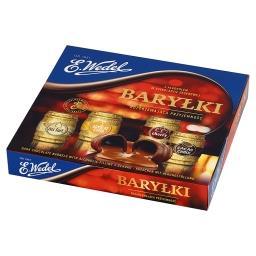 Baryłki z alkoholem w czekoladzie deserowej