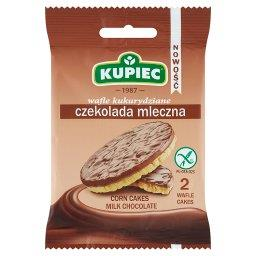 Wafle kukurydziane czekolada mleczna  (2 sztuki)