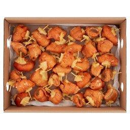Roladki z łososia z ananasem wędzone na gorąco