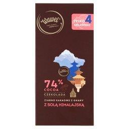 Czekolada 74% cocoa ziarno kakaowe z Ghany z solą hi...