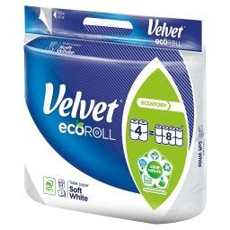 EcoRoll Delikatnie Biały Papier toaletowy 4 rolki