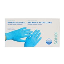 Rękawice nitrylowe niepudrowane rozmiar Medium 100 s...