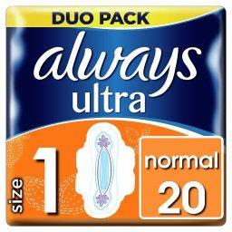 Ultra Normal (rozmiar 1) Podpaski ze skrzydełkami, 2...