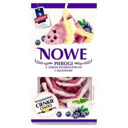 Nowe Pierogi z serem twarogowym i jagodami