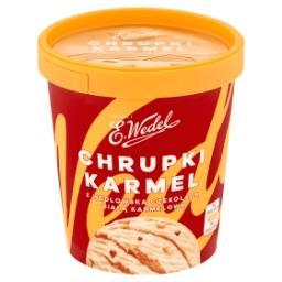 Lody chrupki karmel z wedlowską czekoladą białą karm...