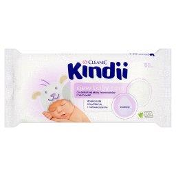 Kindii New Baby Care Chusteczki do delikatnej skóry noworodków i niemowląt 60 sztuk