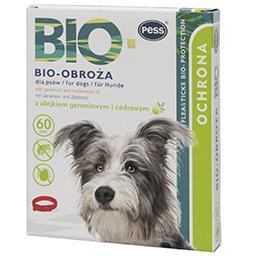 Bio obroża z olejkiem geraniowym i cedrowym dla psa ...