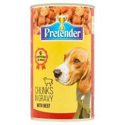 Karma dla psów kawałki mięsne z wołowiną w sosie