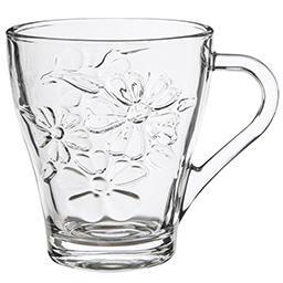 Kubek szklany / szklanka Flower 270 ml