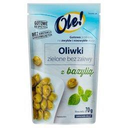 Oliwki zielone bez zalewy z bazylią 70 g