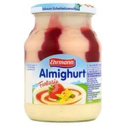 Almighurt Jogurt o smaku waniliowym z wsadem truskaw...
