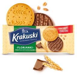 Florianki Herbatniki w czekoladzie mlecznej z dodatk...