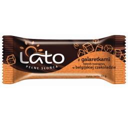 Baton twarogowy Belgijska czekolada z galaretką 40g