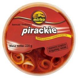 Koreczki śledziowe pirackie pikantnie przyprawione z dodatkiem ostrego sosu