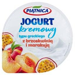 Jogurt kremowy typu greckiego z brzoskwinią i marakują