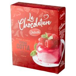 La Chocolatiere Panna Cotta z białą czekoladą i sose...