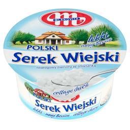 Polski Wiejski lekki Serek twarogowy ziarnisty ze śm...