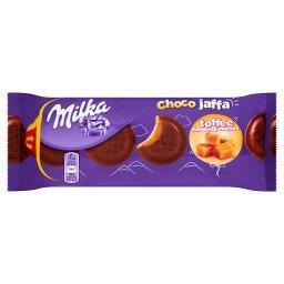 ChocoJaffa Biszkopty z pianką o smaku toffi w czekoladzie mlecznej z alpejskiego mleka