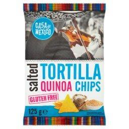 Tortilla Chipsy z quinoa naturalne solone bezglutenowe