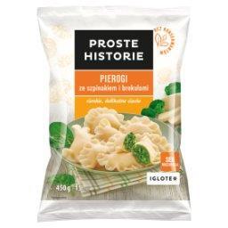 Pierogi ze szpinakiem i brokułami  (15 sztuk)
