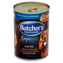 Superior Karma dla dorosłych psów kawałki w sosie z wołowiną kaczką i groszkiem