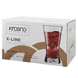 Szklanki long drink X-line 300ml kpl. 6 sztul